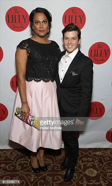 Aneesh Sheth and Jax Jackson attend The Lilly Awards Broadway Cabaret at the Cutting Room on October 17 2016 in New York City
