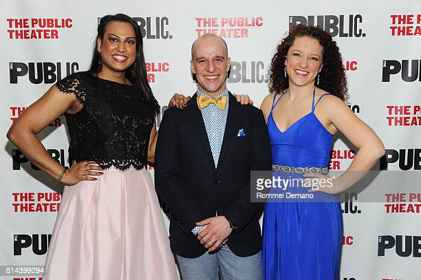 Aneesh Sheth and Ryan Kazprzak attend 'Southern Comfort' Opening Night at The Public Theater on March 8 2016 in New York City
