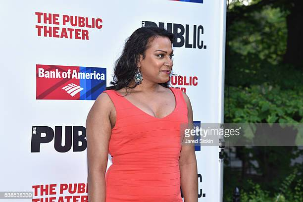 Aneesh Sheth attends the Delacorte Theater on June 6 2016 in New York City