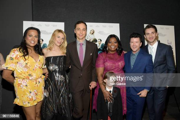 Aneesh Sheth Claire Danes Jim Parsons Octavia Spencer Leo James Davis director Silas Howard and screenwriter Daniel Pearle attend the A Kid Like Jake...