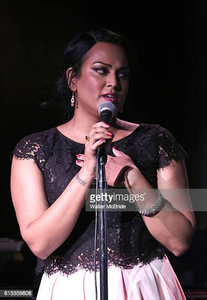 Aneesh Sheth performing at The Lilly Awards Broadway Cabaret at the Cutting Room on October 17 2016 in New York City