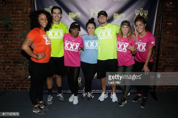 Aneessa Ferreira Jordan Wiseley Simone Kelly Veronica Portillo Hunter Barfield Camila Nakagawa and Tori Deal attend The Challenge XXX Ultimate Fan...