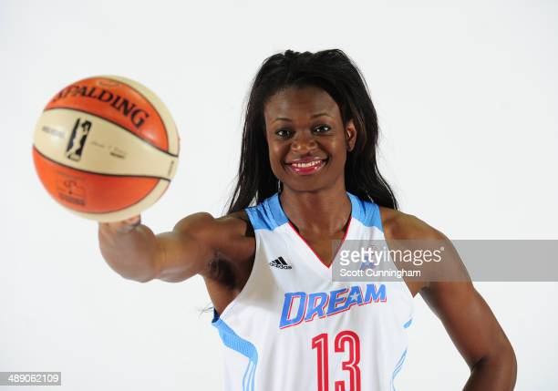 Aneika Henry of the Atlanta Dream poses for a photograph during WNBA Media Day at Philips Arena on May 9 2014 in Atlanta Georgia NOTE TO USER User...