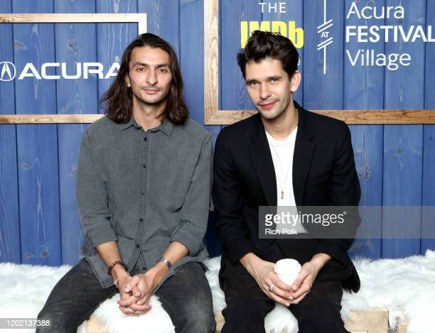 Aneil Kria and Ben Whishaw of 'Surge' attend the IMDb Studio at Acura Festival Village on location at the 2020 Sundance Film Festival – Day 3 on...