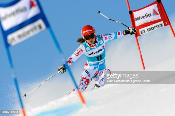 Anemone Marmottan of France competes during the Audi FIS Alpine Ski World Cup Women's Giant Slalom on December 15 2013 in St Moritz Switzerland