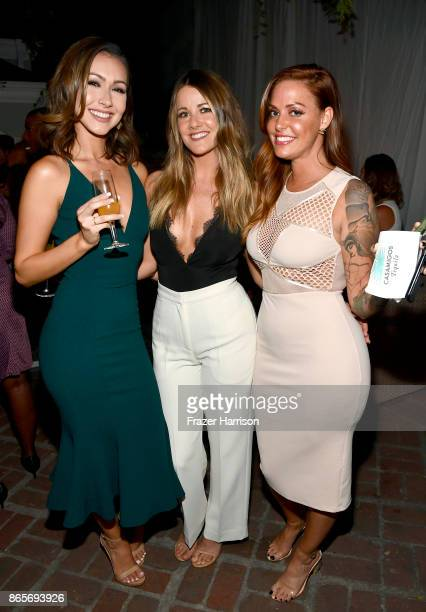 Anessa Hernandez Brittany Stevens and Jillian Cherry at the grand opening of the new Ken Paves Salon hosted by Eva Longoria on October 23 2017 in Los...