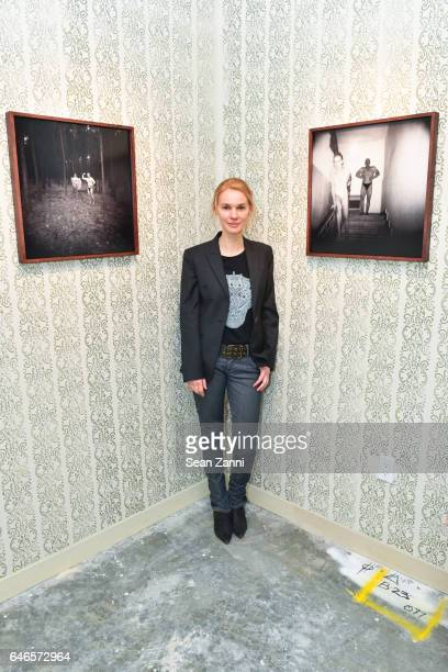 Aneta Bartos at Spring Break Art Fair 2017 Vernissage at 4 Times Square on February 28 2017 in New York City