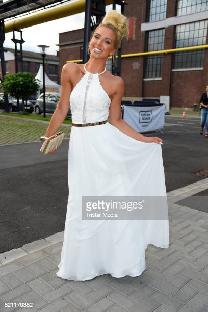 Aneta Sablik attends the Unique show during Platform Fashion July 2017 at Areal Boehler on July 22 2017 in Duesseldorf Germany