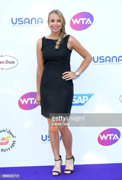 Anett Kontaveit attends the WTA's 'Tennis On The Thames' evening reception at Bernie Spain Gardens South Bank on June 28, 2018 in London, England.