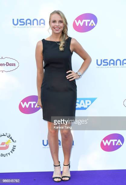 Anett Kontaveit attends the WTA's 'Tennis On The Thames' evening reception at Bernie Spain Gardens South Bank on June 28 2018 in London England