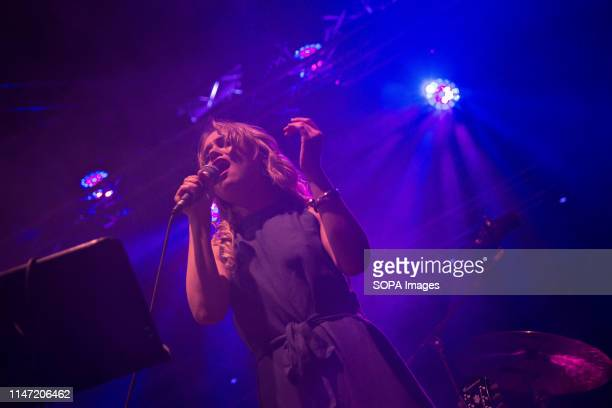 Anett Tamm of Alfa Collective seen performing on stage A weekly jazz festival takes place every year at Technopolis in Gazi with musicians from all...