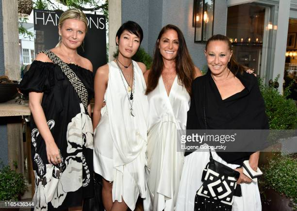 Anetta Nowosielska , Jihae, Lynn Scotti, and Donna Karan attend the Hamptons Magazine Celebrates Cover Star Jihae at Tutto il Giorno on July 31, 2019...