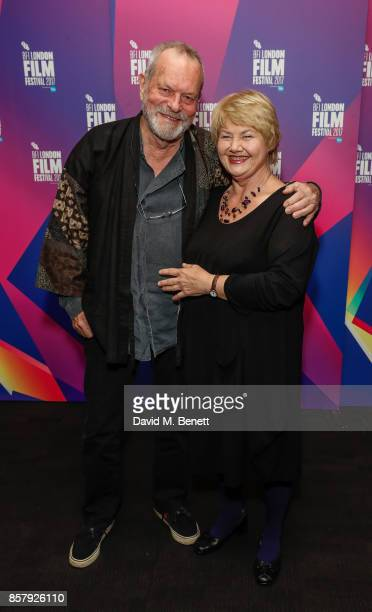Anette Badland and Terry Gilliam attend a screening 'Jabberwocky' during the 61st BFI London Film Festival on October 5 2017 in London England