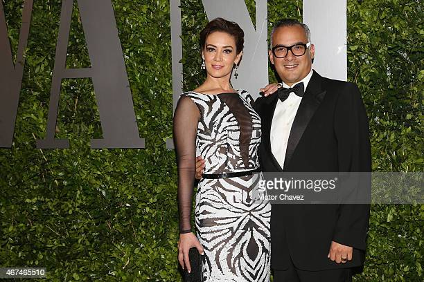 Anette Michel and Gregorio Jimenez attend the Vanity Fair México magazine launch at Casa Del Lago on March 24 2015 in Mexico City Mexico