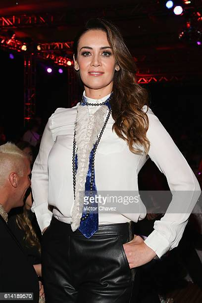 Anette Michel attends the second day of MercedesBenz Fashion Week Mexico Spring/Summer 2017 at Maria Isabel Sheraton hotel on October 11 2016 in...