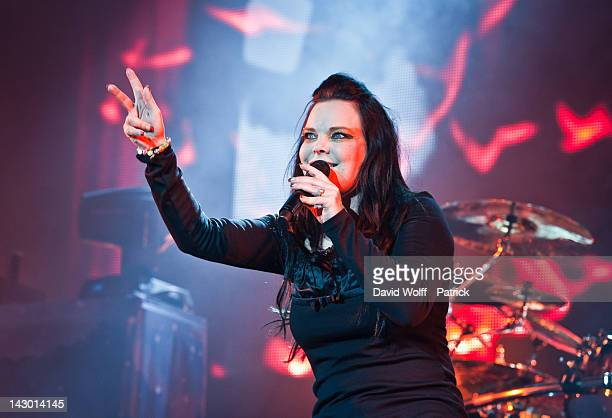 Anette Olzon of Nightwish performs at Palais Omnisports de Bercy on April 17 2012 in Paris France
