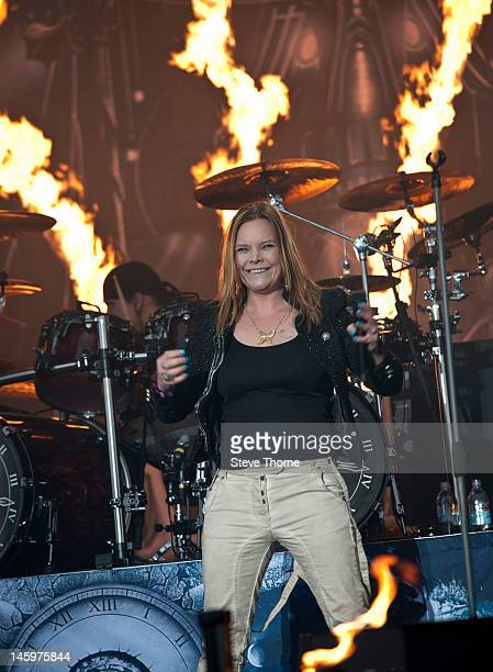 Anette Olzon of Nightwish performs on stage during Download Festival at Donington Park on June 8 2012 in Castle Donington United Kingdom