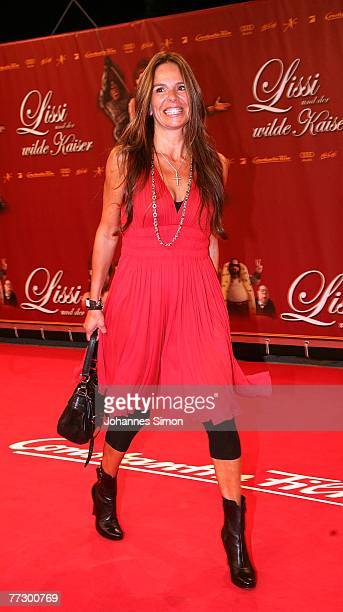 Anette Tramitz attends the premiere of Lissi Und Der Wilde Kaiser at the Royal Residence on October 11 2007 in Munich Germany