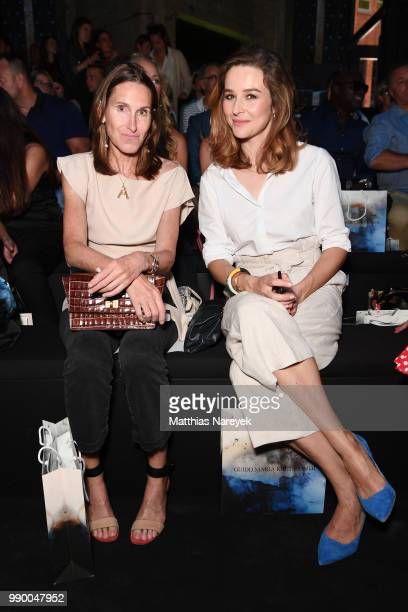 Anette Weber and Katrin Bauerfeind attend the Guido Maria Kretschmer show during the Berlin Fashion Week Spring/Summer 2019 at ewerk on July 2 2018...