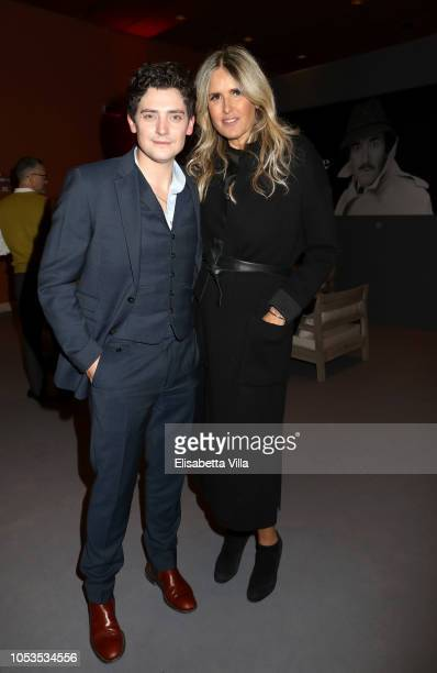 Aneurin Barnard actor of the movie 'Dead In A Week Or Give Your Money Back' and Tiziana Rocca are seen at the Campari Red Room during the 13th Rome...
