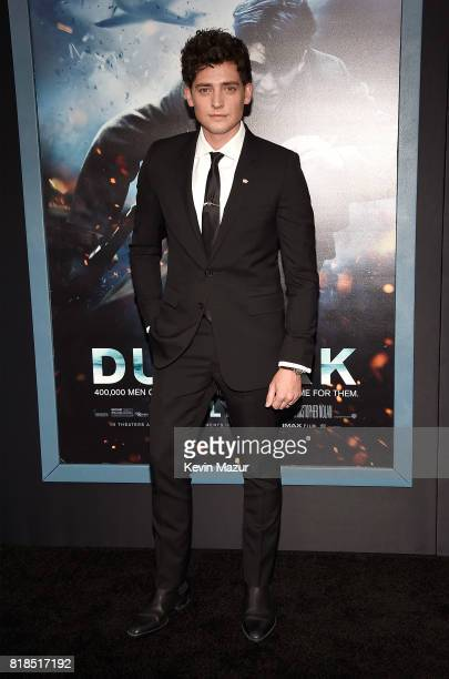 Aneurin Barnard attends the 'DUNKIRK' premiere in New York City