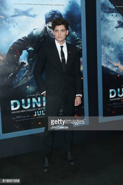 Aneurin Barnard attends the US premiere of 'Dunkirk' at AMC Loews Lincoln Square IMAX on July 18 2017 in New York City