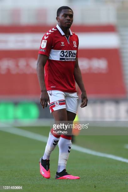 Anfernee Dijksteel of Middlesbrough during the Sky Bet Championship match between Middlesbrough and Cardiff City at the Riverside Stadium,...