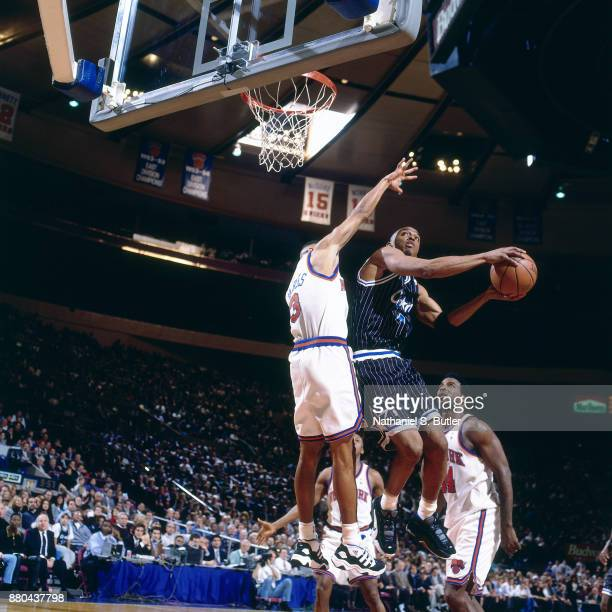 Penny hardaway 1996 stock photos and pictures getty images anfernee hardaway of the orlando magic shoots during a game played on february 1 1996 at sciox Gallery
