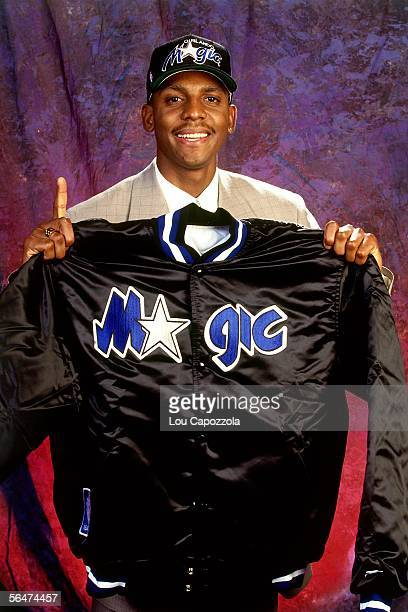 Anfernee Penny Hardaway of the Orlando Magic poses for a portrait during the 1993 NBA Draft at the Palace at Auburn Hills in Auburn Hills Michigan...