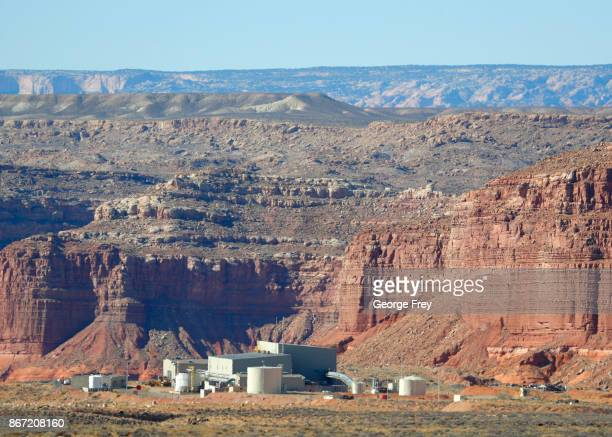 Anfield's Shootaring Canyon Uranium Mill sits in the middle of the Utah desert on October 27 2017 outside Ticaboo Utah Anfield with is in partnership...