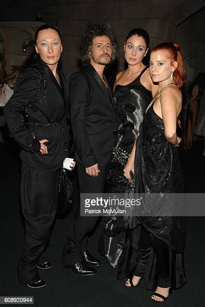 Ang Gabi Aida Khoursheed and Adi attend CFDA/Vogue '7th ON SALE' 2007 Gala at 69th Regiment Armory on November 15 2007 in New York City