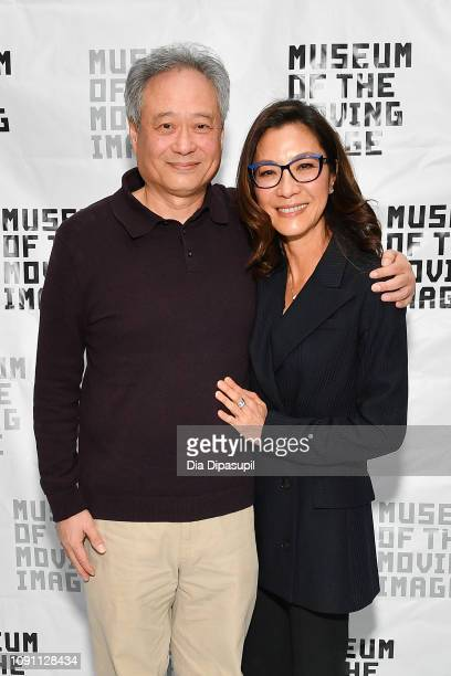 Ang Lee and Michelle Yeoh attend 'An Evening with Michelle Yeoh' at the Museum of the Moving Image on January 07 2019 in New York City