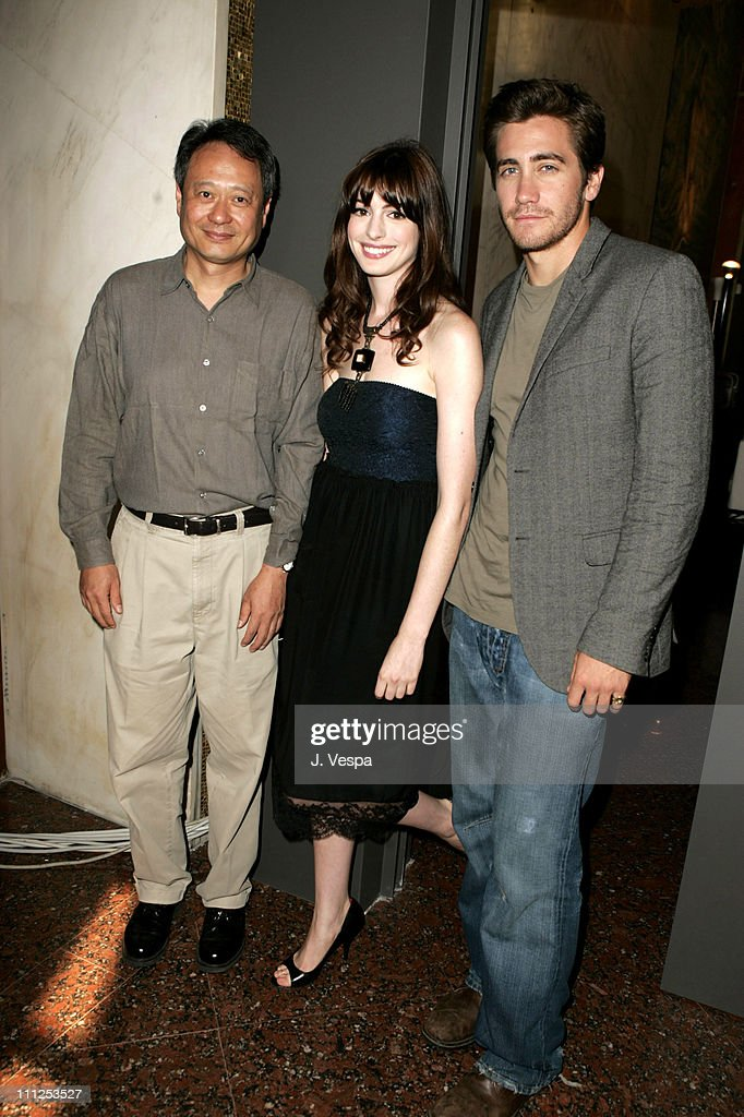 Ang Lee, director, Anne Hathaway and Jake Gyllenhaal