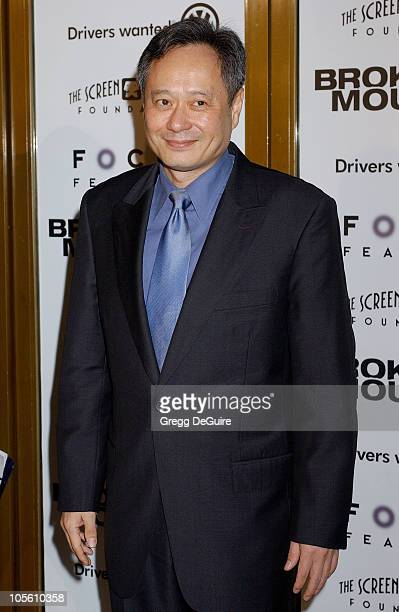 Ang Lee during Focus Features' Brokeback Mountain Los Angeles Premiere Arrivals at Mann National Theatre in Westwood California United States