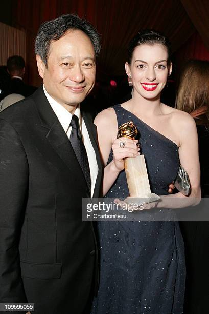 Ang Lee winner of Best Director Motion Picture for Brokeback Mountain and Anne Hathaway