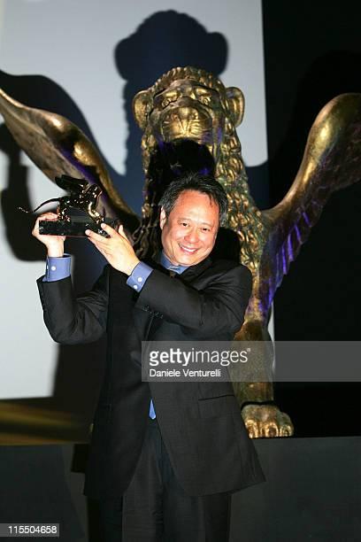 Ang Lee winner of the Golden Lion Award for Best Film Brokeback Mountain