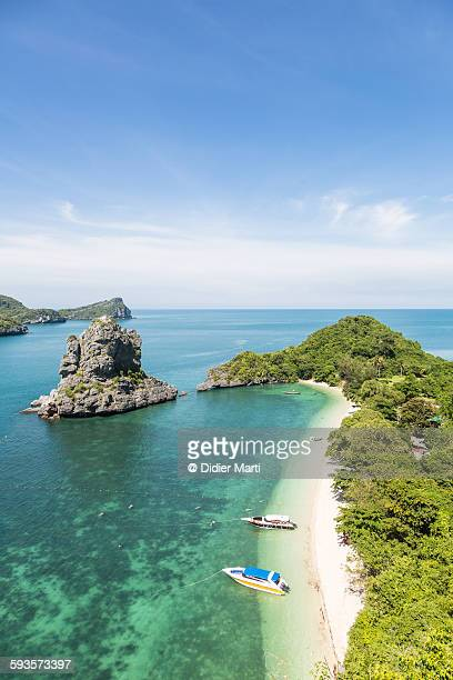 ang thong marine park in thailand - ko samui stock photos and pictures