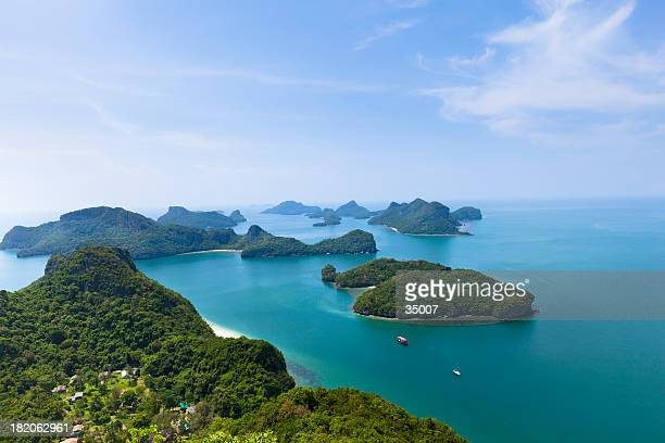 ang thong marine park - ko samui stock photos and pictures