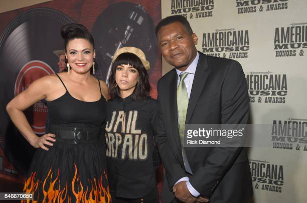 Angaleena Presley Alynda Lee Segarra and Robert Cray attend the 2017 Americana Music Association Honors Awards on September 13 2017 in Nashville...