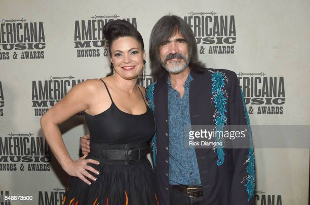 Angaleena Presley and Larry Campbell attend the 2017 Americana Music Association Honors Awards on September 13 2017 in Nashville Tennessee