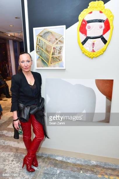 Ange attends Spring Break Art Fair 2017 Vernissage at 4 Times Square on February 28 2017 in New York City