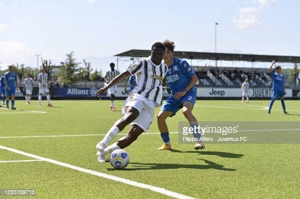 Ange Chibozo of Juventus during the Primavera 1 TIM match between Juventus U19 and Empoli FC U19 at Juventus Center Vinovo on May 05, 2021 in Vinovo,...