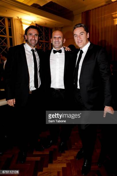 Ange Christou Sam Greco and Anthony Koutoufides at the Invitational Poker Event by the Hachem Group at The Trust on April 30 2017 in Melbourne...
