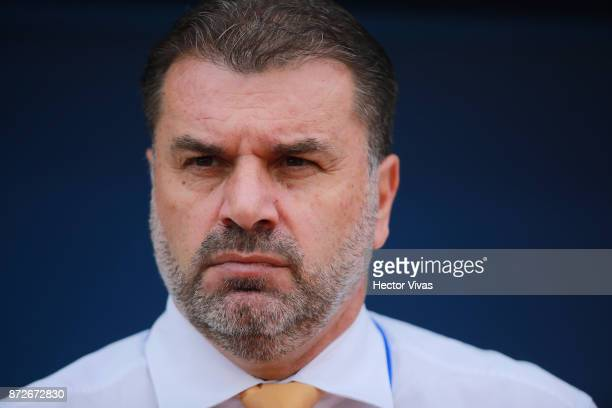 Ange Postecoglou Coach of Australia looks on during a first leg match between Honduras and Australia as part of FIFA World Cup Qualifiers Play Off at...