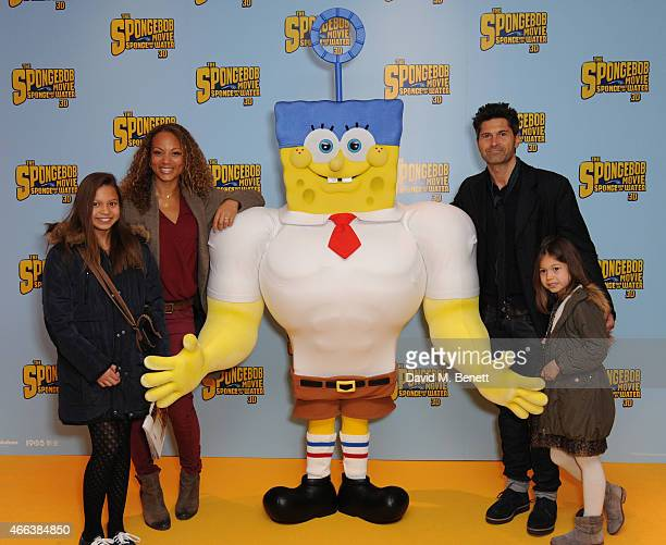 Angeela Griffin Jason Milligan and Family attends a special Mother's Day screening of 'The SpongeBob Movie Sponge Out of Water 3D' at the Ham Yard...
