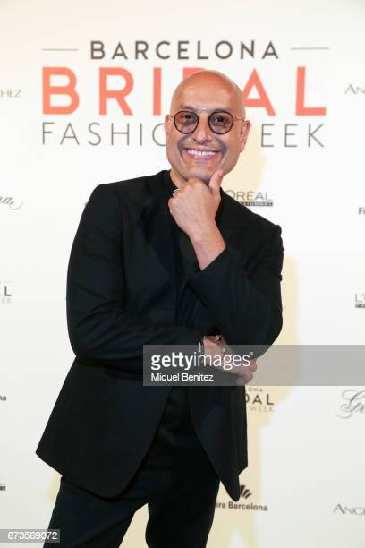 Angel Aguilar poses in a photocall during the Angel Aguilar show Bridal Night Angel Aguilar during Barcelona Bridal Fashion Week 2017 at Palau de...