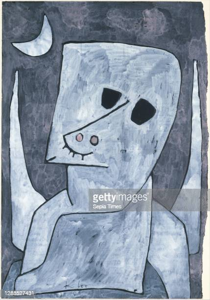 Angel Applicant Gouache, ink, and graphite on paper mounted on cardboard, 25 3/4 × 17 1/2 in. , Drawings, Paul Klee , It seems doubtful that this...