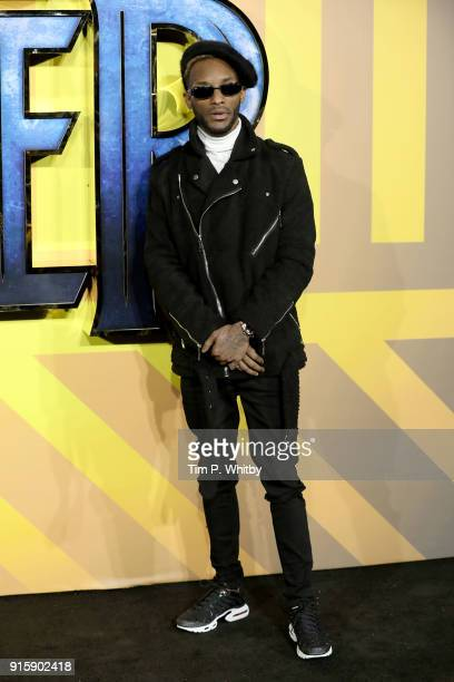 Angel attends the European Premiere of 'Black Panther' at Eventim Apollo on February 8 2018 in London England