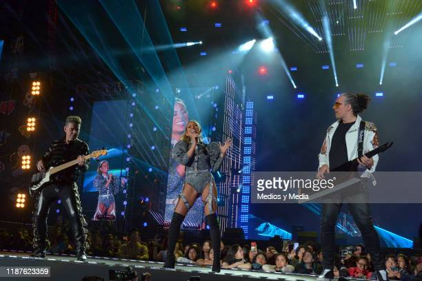 Angel BAillo Jass Reyes and Jorge Corales of Playa Limbo perform during the TeleHit Awards 2019 at Foro Sol on November 13 2019 in Mexico City Mexico