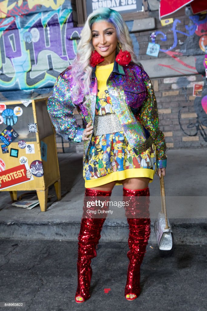 Angel Brinks arrives for VH1's Hip Hop Honors: The 90's Game Changers at Paramount Studios on September 17, 2017 in Hollywood, California.